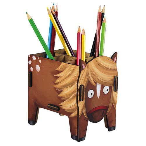 Werkhaus Stiftebox -  Pony - braun
