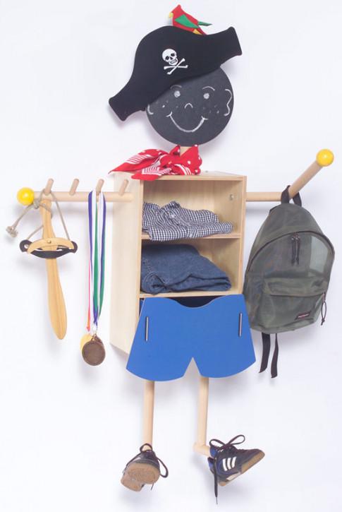 Timkid - baddi - Kindergarderobe für Jungen - Wandmontage