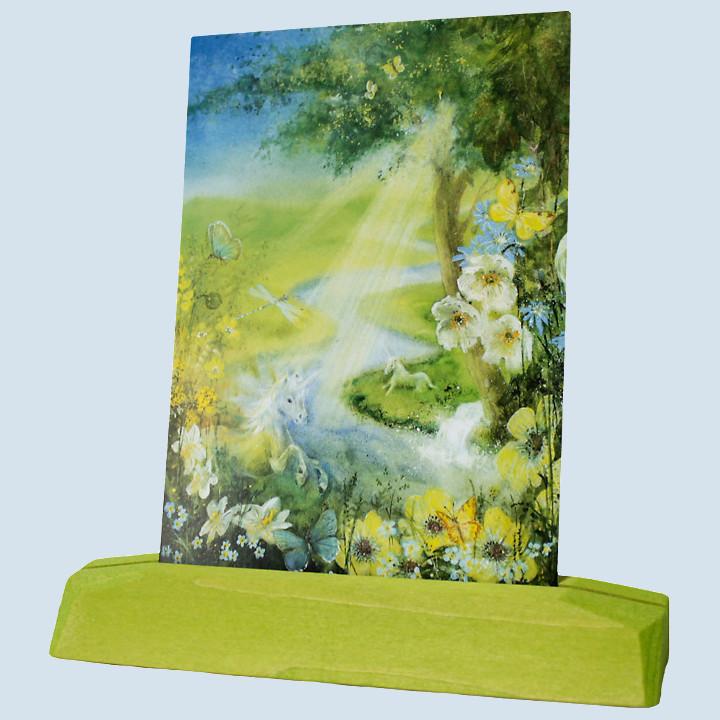 Decor - Post-, Kunstkartenständer, grüngelb