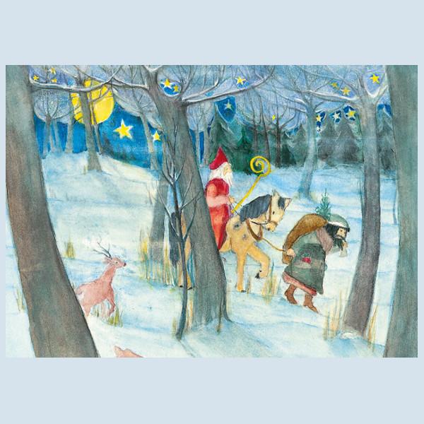 Postkarte - Der Nikolaus - Waldow Verlag