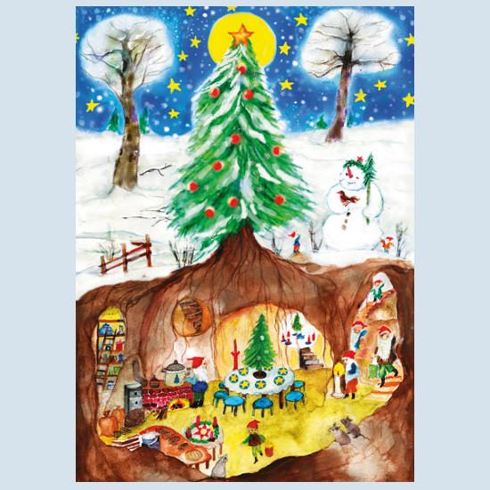Postkarte - Weihnachtszwerge - Waldow Verlag