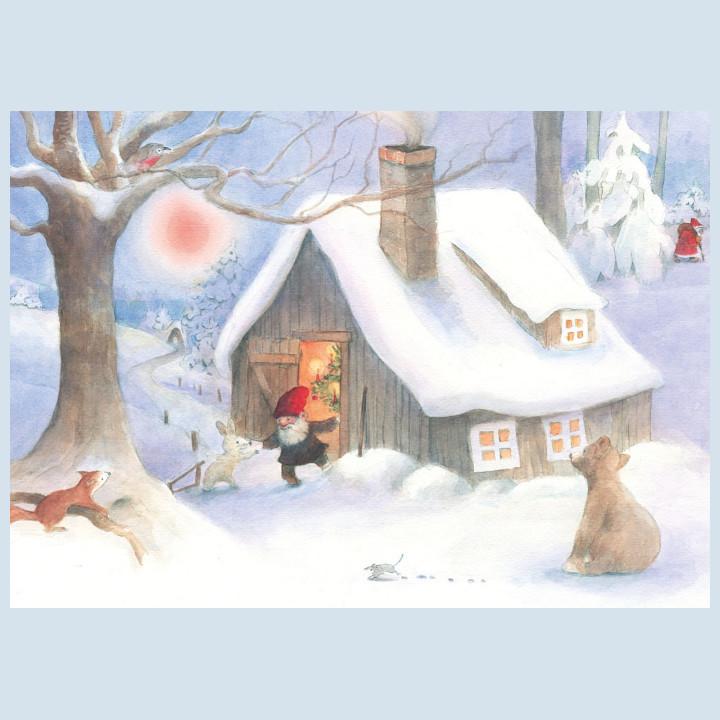 Postkarte - Weihnachten im Wald - Waldow Verlag
