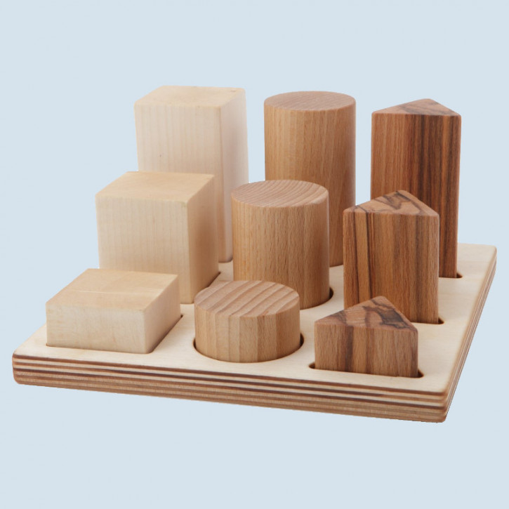 Wooden Story - Natural Shape Sorter Board