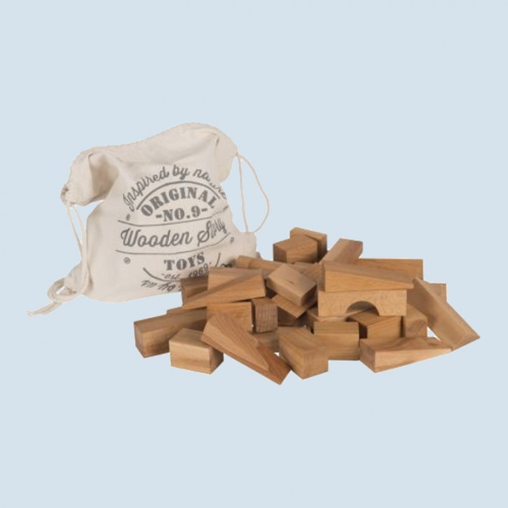 Wooden Story - Natural Blocks - in Sack