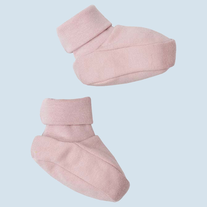 wooly organic - Baby Schuhe, Booties, rosa, Bio Qualität
