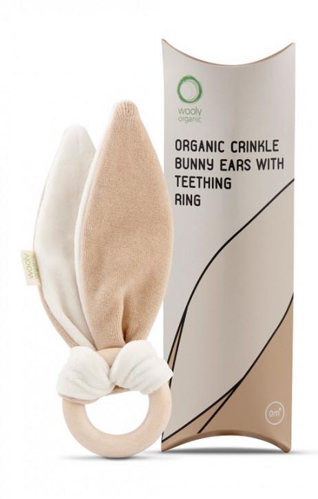 wooly organic - Greifling Kniesterohren, Bio Baumwolle, Holzring