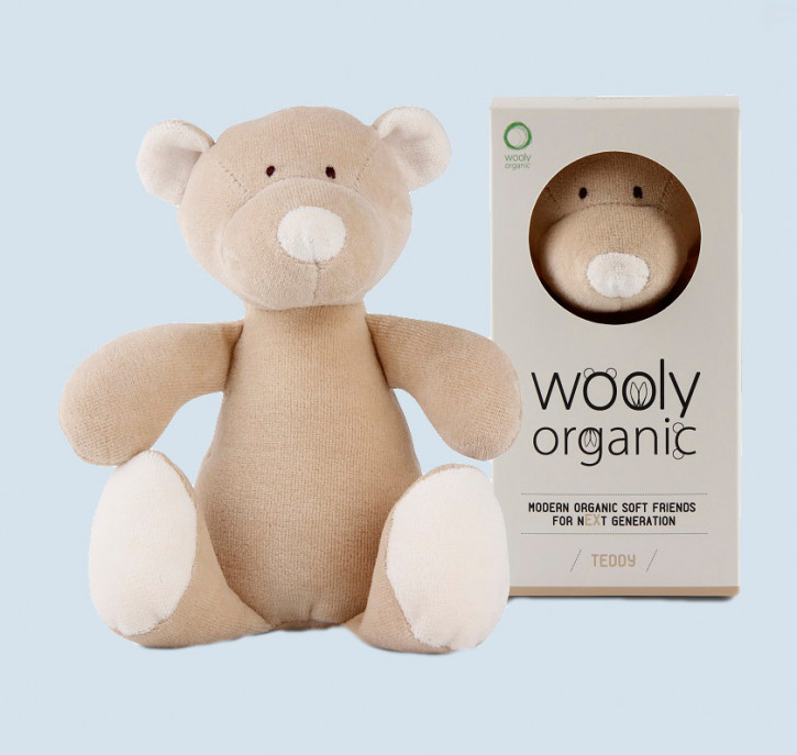 wooly organic - Kuscheltier Bär, Teddy - Bio Baumwolle, Vegan, small