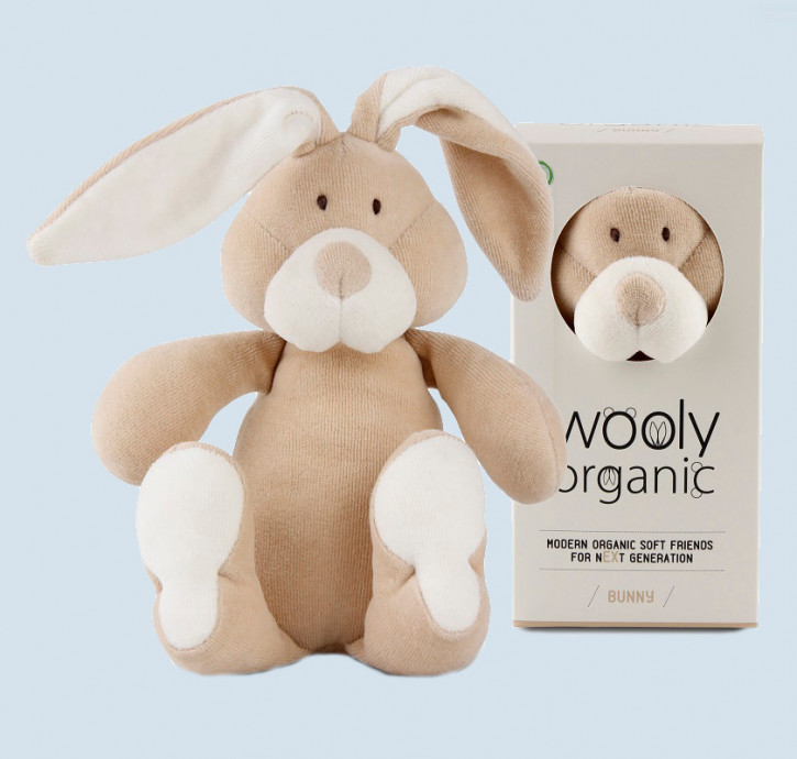 wooly organic - Kuscheltier Hase - Bio Baumwolle, Vegan, small