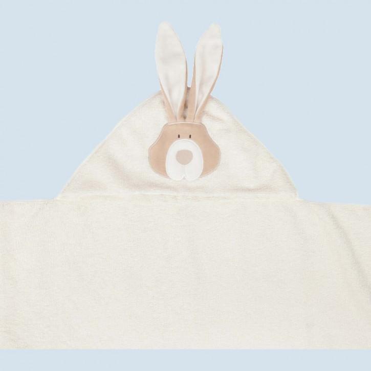 wooly organic - Kinder Badetuch Hase XL - Kapuze, Baumwolle Bio Qualität