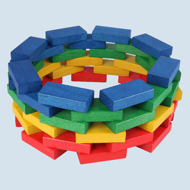 Beck - wooden building blocks - colored