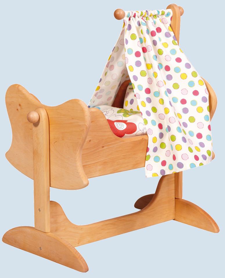 gl cksk fer puppenwiege aus erlenholz maman et bebe. Black Bedroom Furniture Sets. Home Design Ideas