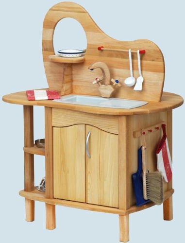 Glückskäfer Spielküche Mit Aufsatz, Holz Maman Et Bebe