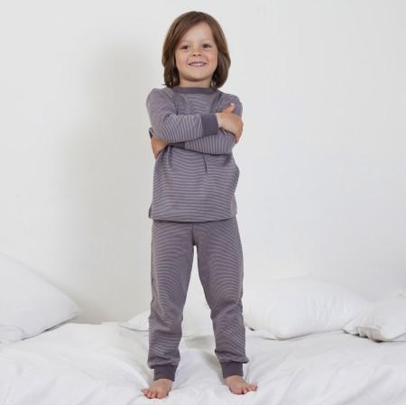 124e9f89a5 Living Crafts - Kinderschlafanzug grau - Zweiteiler - Baumwolle, bio ...