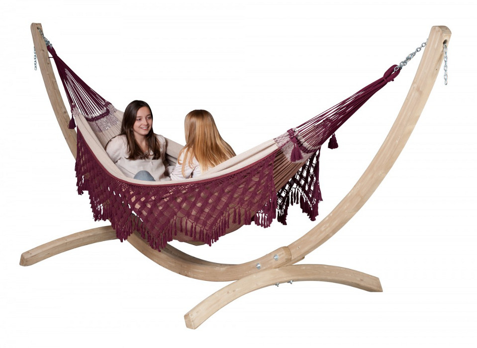 la siesta familien h ngematte bossanova bordeaux baumwolle bio qualit t. Black Bedroom Furniture Sets. Home Design Ideas