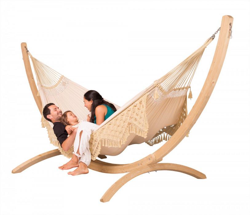 la siesta familien h ngematte bossanova champagne baumwolle bio qualit t. Black Bedroom Furniture Sets. Home Design Ideas