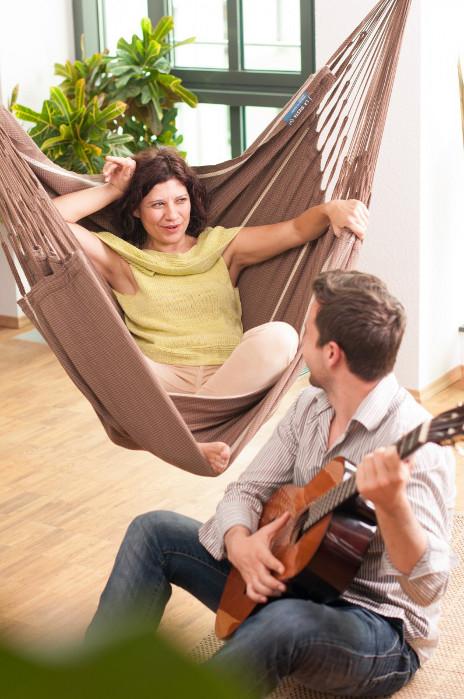 la siesta h ngestuhl habana lounger baumwolle bio qualit t chocolate. Black Bedroom Furniture Sets. Home Design Ideas