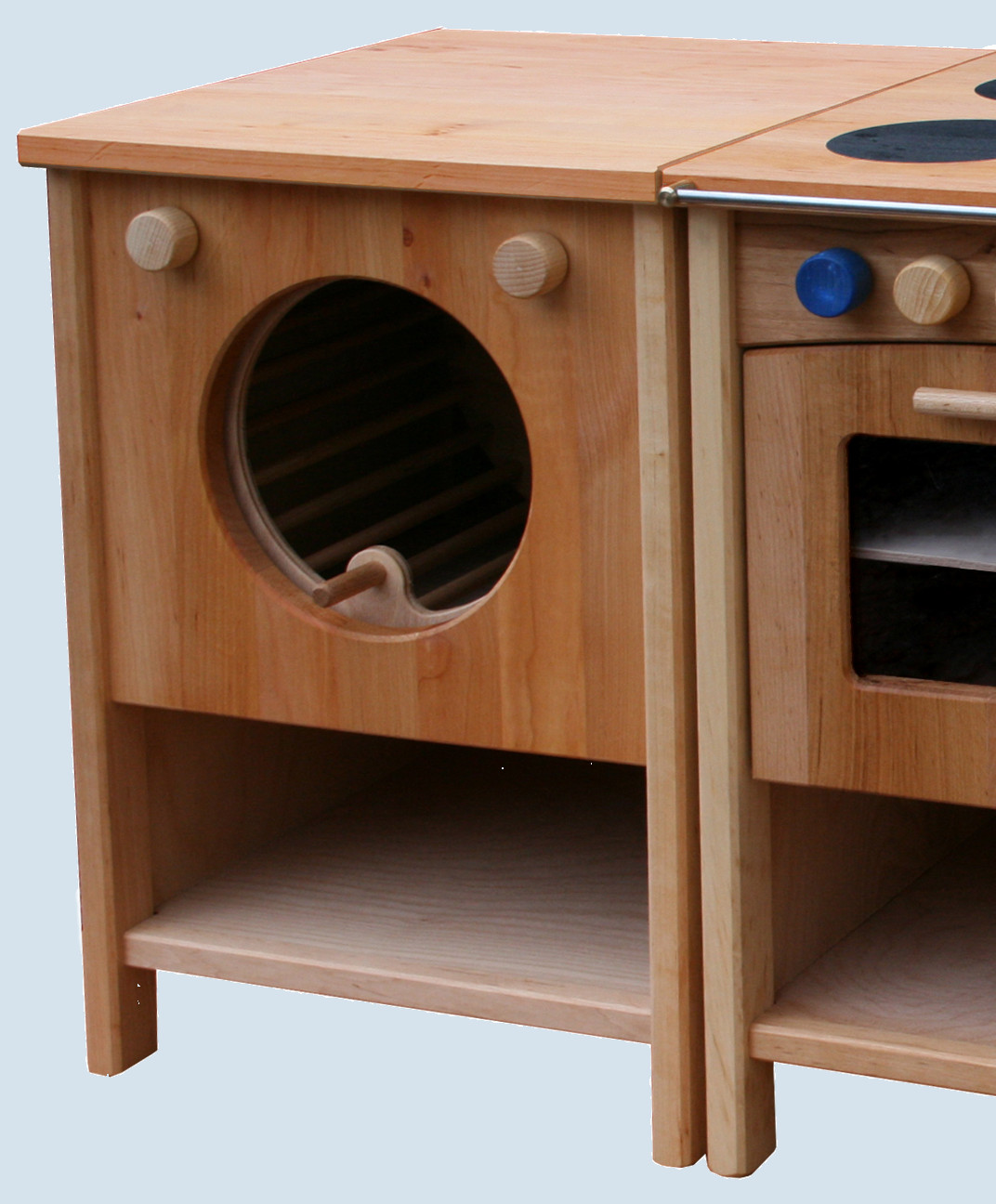 sch llner waschmaschine f r spielk che singl erlenholz. Black Bedroom Furniture Sets. Home Design Ideas