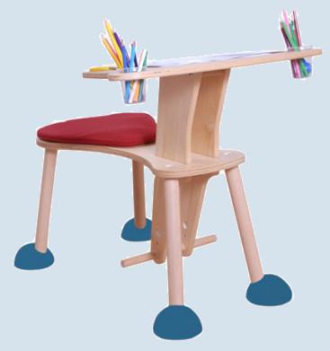 Kindermöbel holz  Timkid Maltisch, Spieltisch Clexo rot / blau - Kindermöbel, Holz