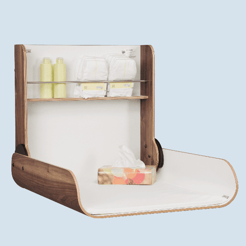 timkid wickeltisch kawaform midi nussbaum wandmontage maman et bebe. Black Bedroom Furniture Sets. Home Design Ideas
