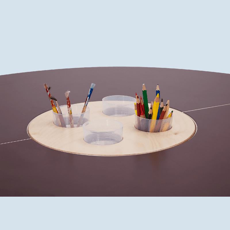 Timkid - Spieltisch tavi für Kinder aus Holz - braun   maman et bebe
