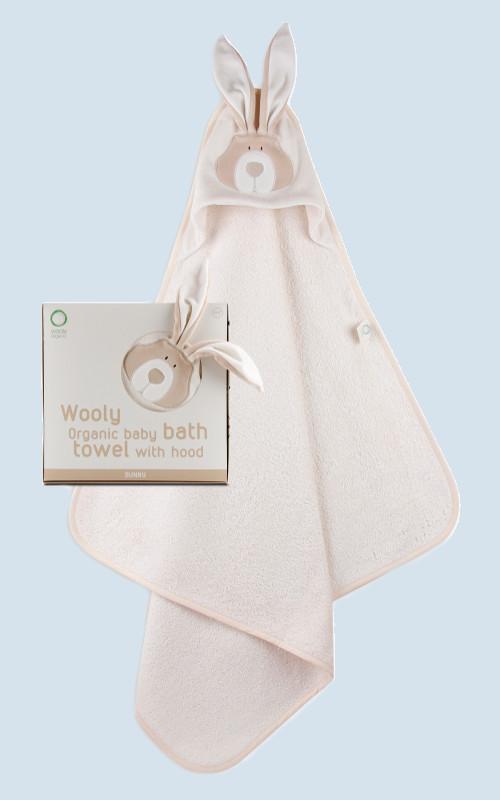 wooly organic badetuch mit kapuze f r babys hase baumwolle bio qualit t. Black Bedroom Furniture Sets. Home Design Ideas