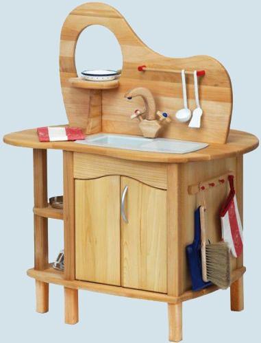 Holz SpielkUche Von Beiden Seiten Bespielbar ~ Glückskäfer  Spielküche mit Aufsatz  Holz, maman et bebe