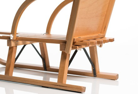 sirch schiebelehne f r schlitten rodelschlitten aus holz. Black Bedroom Furniture Sets. Home Design Ideas