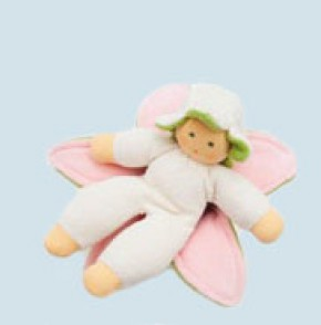 Nanchen Puppe - Blumenfee - natur, Bio Baumwolle, öko