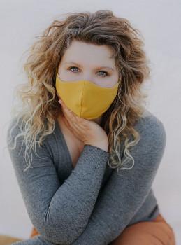 wooly organic - Gesichtsmaske - gelb curry , Baumwolle, Bio Qualität