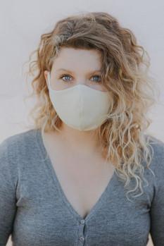 wooly organic - Gesichtsmaske - ecru natur, Baumwolle, Bio Qualität