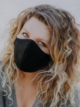 Community mask - face mask - black, eco