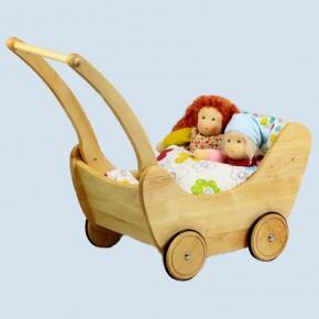 Glückskäfer - Puppenwagen mit Bettzeug - Holz
