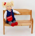 Schöllner - Bank für Puppen - Holz