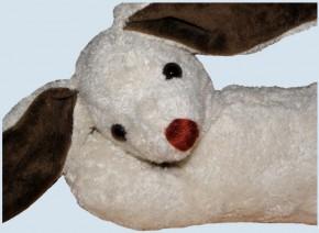 Kallisto music box - lying Rabbit, Bunny - white, organic cotton, eco