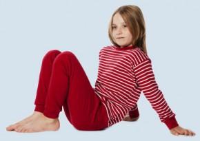 Living Crafts - Kinder Schlafanzug rot - Baumwolle bio, 140