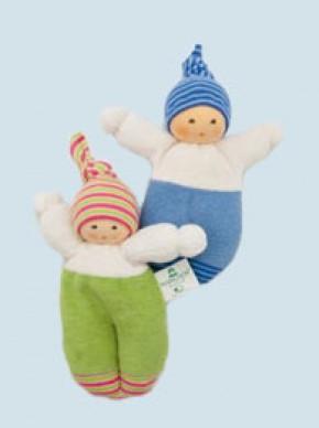 Nanchen Puppe - Schlenkerliese - blau, Bio Baumwolle, öko