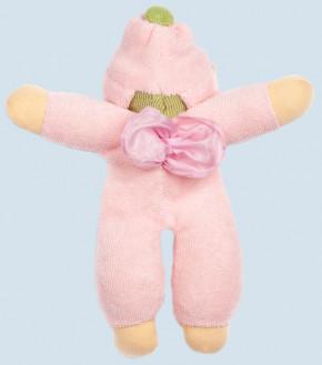 Nanchen Puppe - Blumenfee - rosa, Bio Baumwolle, öko