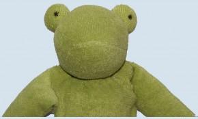 Nanchen Puppe - Frosch Peter - blaue Hose, Bio Baumwolle, öko