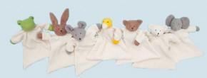 Nanchen Puppe - Nuckeltuch Bär, Teddy, Eisbär - weiß, Bio Baumwolle, öko