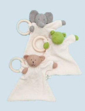 Nanchen doll - comforter elephant - wooden ring, organic cotton