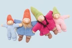 Nanchen Doll - little Dwarf - blue, organic cotton, eco