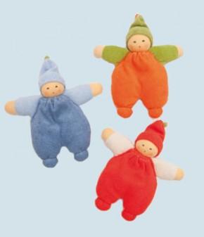 Nanchen Puppe - Beerenkind - orange, Bio Baumwolle, öko