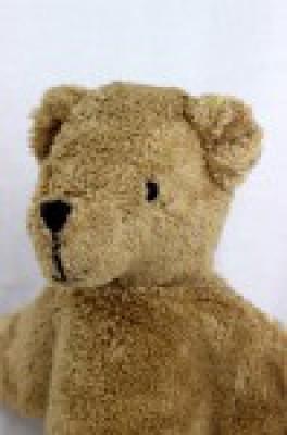 Senger - Schlenker Kuscheltier Bär, Teddy - beige, Bio Baumwolle