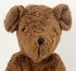 Senger - Schlenker Kuscheltier Teddy Bär - braun, groß, Bio Baumwolle