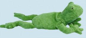 Senger Tierpuppe - Kuscheltier Frosch - Bio Baumwolle, Kirschkern, 30 cm