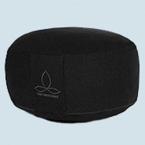Sense & Soul - Meditationskissen Rondo G - Baumwolle, Bio Qualität, black