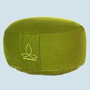 Sense & Soul - Meditationskissen Rondo G - Baumwolle, Bio Qualität, green