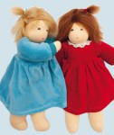Nanchen Puppe - Wonnekind Sophie - rot, Bio Baumwolle, öko