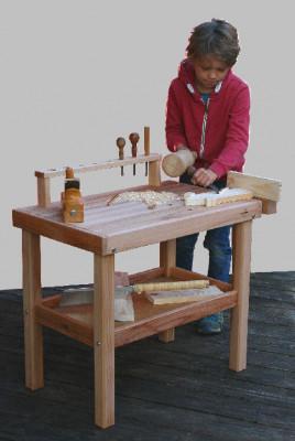 Schoellner - wooden workbench for children